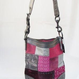 Coach Holiday Multicolor Patchwork Crossbody Bag